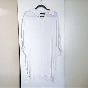 Zara Oversized Button Down Tunic Top